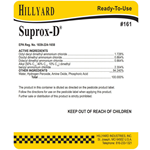 Hillyard, Secondary Label for Suprox-D HIL31161, sold as each
