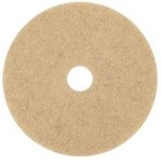 3M Floor Care Pad, 3500 Natural Blend Tan Burnish Pad, Natural Hair and Synthetic Hair, 20 inch, MIN70070502094, 5 pads per case, sold as 1 pad
