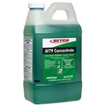 Betco, AF79 Acid Free Bathroom Cleaner Concentrate, Fast Draw, Green Color, pH 12.5 - 13.5, 3314700, 4 -2 Liter Bottles per Case