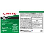 Betco, Secondary Label for AF79 Concentrate, 3319090, sold as each