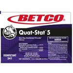 Betco, Secondary Label for Quat-Stat 5 Disinfectant, 3419090, sold as each