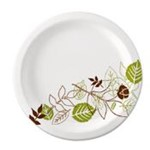 "Dixie, Pathways, Soak-Proof Shield Mediumweight Paper Plate, 8 1/2"", 125/case, DXEUX9WSPK, sold as one case"