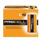 Duracell, Alkaline Pro-Cell, Industrial Battery Size C, PC1400, 12 batteries per pack, sold as 1 battery