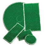 ETC of Henderson Inc, Ruff 14 x 20 inch, Green, 29851420, 2 pads per case, sold as each