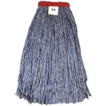 GoldenStar, 4 ply Comet Blue Blend Mop, 24 oz cut end with 1.25 headband, AWQ1024B, 12 mops per case, sold as 1 mop