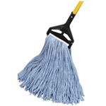 GoldenStar, 4 ply Starline Premium Blue Blend Mop, 24 oz cut end with 1.25 in headband, AQE1024B, 12 mops per case, sold as 1 mop