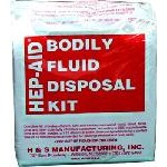 Hep Aid Bodily Fluid Disposal Kit, HIL31000, 12 per case, sold as 1 kit