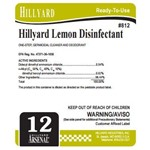 Hillyard, Arsenal Label 812 Lemon Disinfectant, HIL31619, sold as each, 25 per package