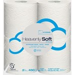 Papernet, Heavenly Soft Special Toilet Tissue, 2 ply, White, 4.33 x 3.94, 410349, 450 sheets per roll, 12 packs of 4 rolls, 48 r