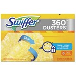 Proctor and Gamble, Swiffer Heavy Duty Dusters Refill, Dust Lock Fiber, Yellow, PGC21620CT, 6 dusters per box, 4 box per case, sold as case