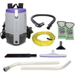 ProTeam, Super Coach Pro 6, 6 qt Backpack Vacuum with Xover Multi-Surface Two-Piece Wand Tool Kit, 107308, sold and 1 unit