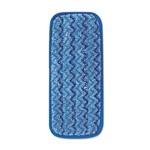 Rubbermaid HYGEN Microfiber Wall and Stair Damp Mop, 11 in, Blue, RUBQ820BL, 6 per cs, sold as 1 pad