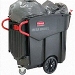 Rubbermaid, Mega Brute Mobile Waste Collector, Black, RUB9W73BLA, sold as 1 container