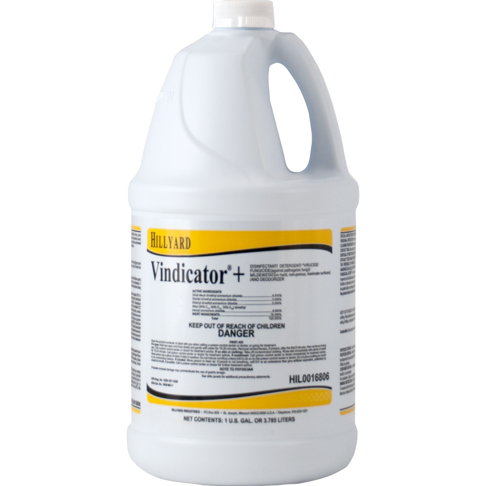 Hillyard, Vindicator Plus Disinfectant, Concentrate, HIL0016806, 4 gallons per case, sold as 1 gallon