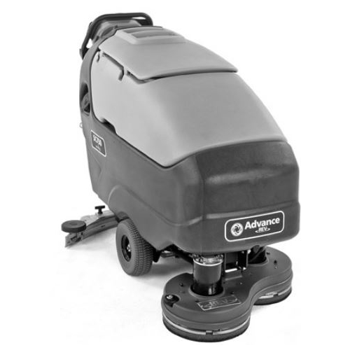 Clarke, Advance, SC750 REV 28R Walk Behind Automatic Floor Scrubber, EcoFlex, Pad Holders, 28 inch Deck, Four 312 Ah AGM Mainten