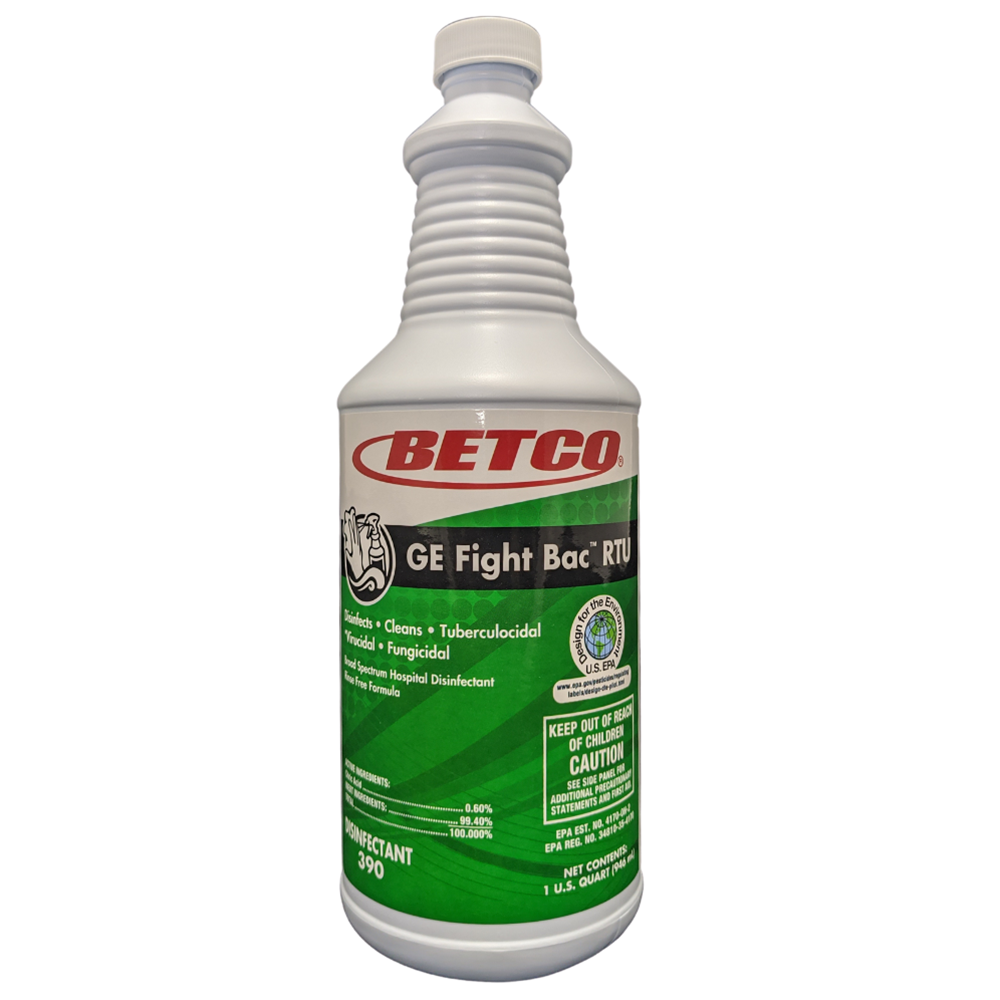 Betco, GE Fight Bac RTU, 32oz bottle, 3901200, 12 Bottles per Case, sold as 1 bottle.