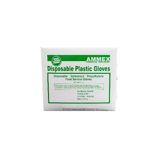 Ammex Glove, Food Service Poly, Medium, PGLOVE-M, 100 gloves per box, 10 box per case, sold as 1 box