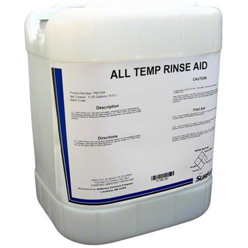 Anderson, All Temp Rinse Aid, PKI1004, 5 gal pail, sold as pail