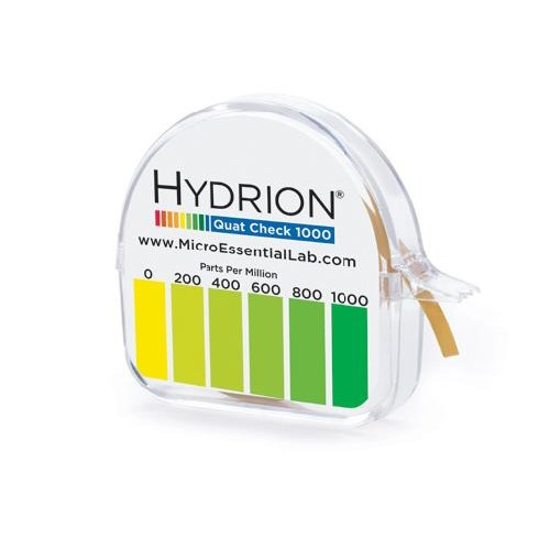 Anderson Chemicals, Hydrion S/R Quat Disp. 0-1000ppm, 150 test per unit, ATK4503, Sold as each