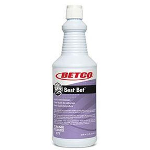 Betco Best Bet, Liquid Creme Cleaner, 0771200, sold as 1 quart, 12 qts per case