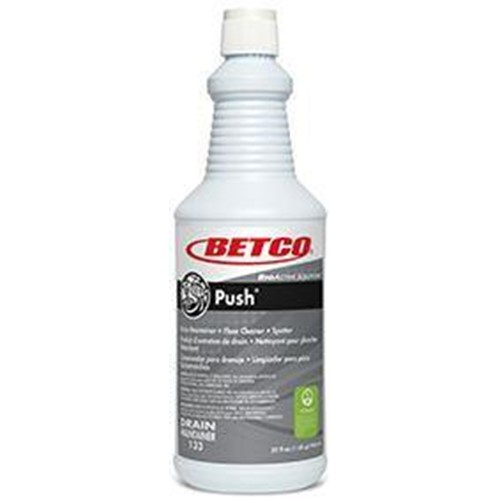 Betco, BioActive Solutions Push, Drain Maintainer, Floor Cleaner and Spotter, 32oz Bottle, 1331200, 12 32oz Bottles per case, so