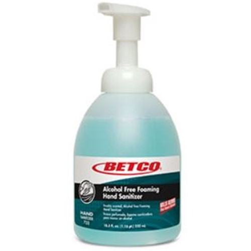 Betco, Clario Alcohol Free Foaming Hand Sanitizer, 550ml Pump Bottles, 7525700, 6 bottles per case, sold by the bottle