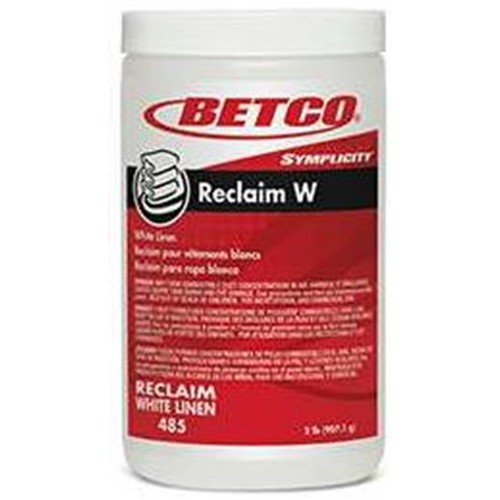 Betco, Laundry,  Simplicity Reclaim W, White Linen, 2 lb Jar, 4857900, 6 Jars per Case, sold per each