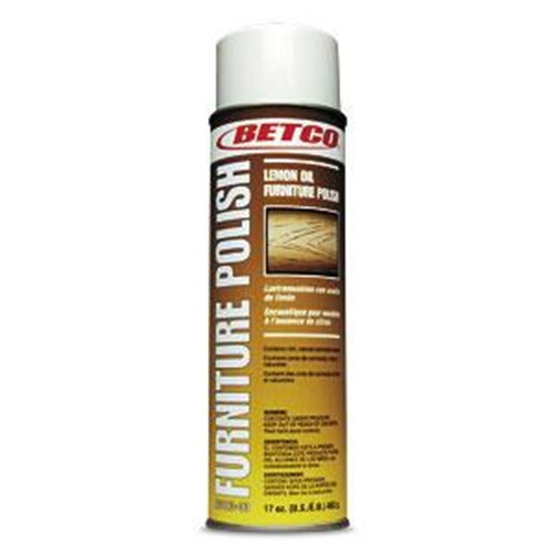 Betco, Lemon Furniture Polish, 17 oz Ready To Use Aerosol, 0602300, sold as 1 can, 12 cans per case