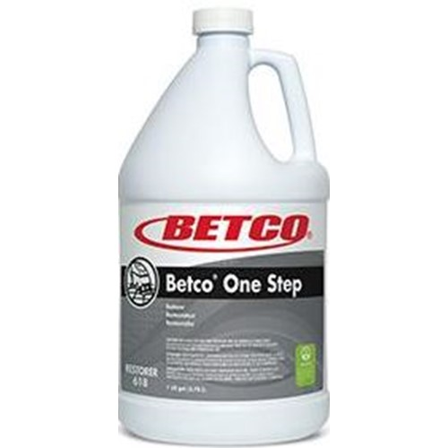 Betco, One Step, Cleaner Restorer, Lemon Fragrance, 4 Gallons per Case, 6180400, sold as 1 gallon.