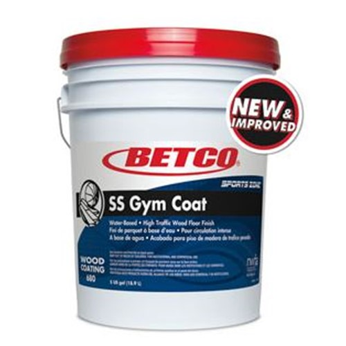 Betco, SS Gym Coat, Water-based High Traffic Wood Floor Finish, 68005-00, 5 gallon pail, sold per pail
