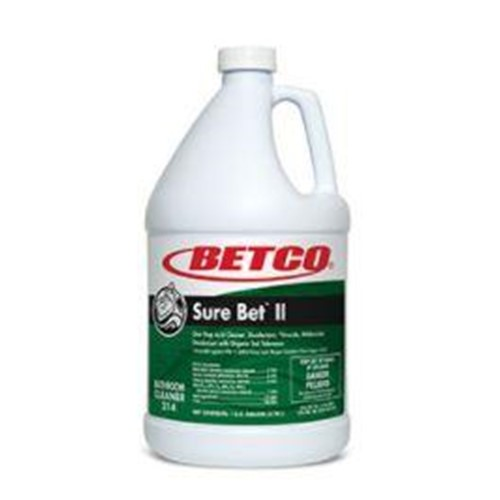 Betco, Sure Bet II Foaming Bathroom Cleaner, concentrated gallon, 3140400, 4 gallons per case, sold as 1 gallon