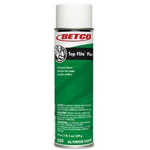 Betco, Top Flite Plus, All Purpose cleaner, Clinging Foam, 19 oz Ready to Use Aerosol, 0592300, 12 cans per case, sold as 1 can