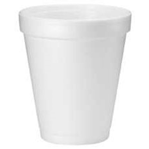 Dart, Foam Cup, 8oz, white, 1000 cups per case, DCC8J8, sold as 1 case