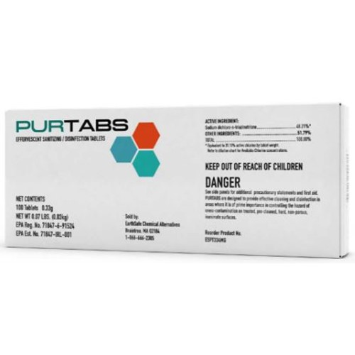 EarthSafe, Purtabs 334mg Tablet, ESPT334MG, sold as case