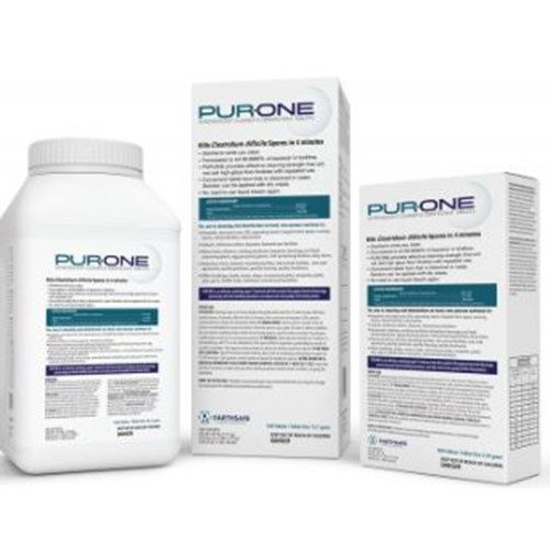 Evaclean, PurOne, Sporicidal NaDCC Tablet, ESPO13.1GLP, Loose pack, 256 ct per Tub, 2 tubs per Case, sold as one case.
