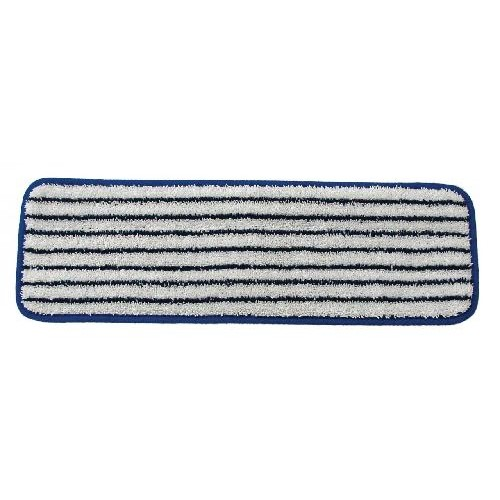 Golden Star, Microfiber 18in.  Heavy Duty Finish Mop, blue and white striped, AMM18HDF, sold as each, 12 per case