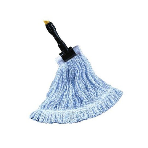 GoldenStar, Waxer Wet Finish Mop Head, Medium, Blue and white striped, AST30BWM, 12 per case, sold as each