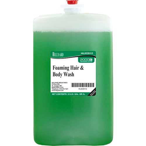Hillyard, 2000 Series, Foaming Hair and Body Foam Soap, 2000 ml, HIL0039112, sold as 1 case, 4 cartridges per case