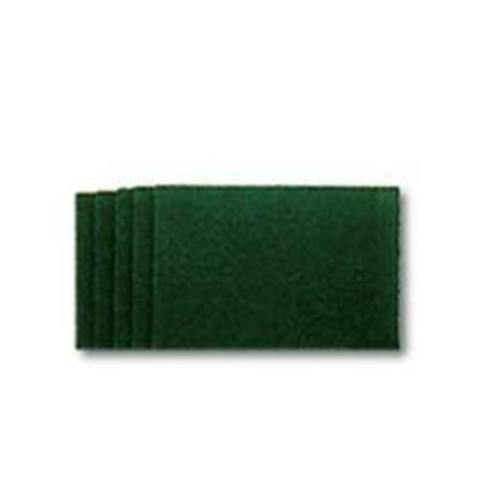 Hillyard, 96 Green Medium Utility Hand Pad, 6x9, HIL29956, 10 pads per box, 6 boxes per case, sold as 1 box