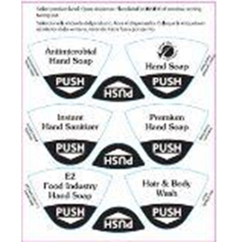 Hillyard, Affinity Stickers For Dispensers, HIL31404, 1 sheet