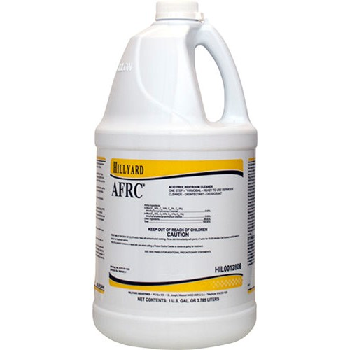 Hillyard, AFRC Acid Free Restroom Cleaner, ready to use gallon, HIL0012806, 4 gallons per case, sold as 1 gallon
