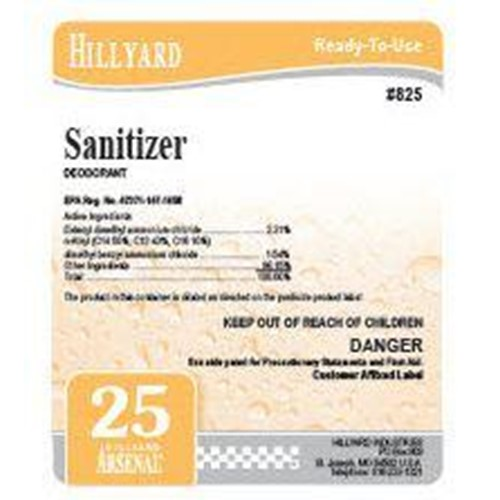 Hillyard, Arsenal Label 825 Sanitizer,  HIL31825, sold as each, 25 per package