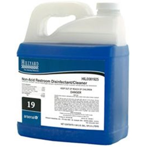 Hillyard, Arsenal Non Acid Restroom Disinfectant #19, dilution control concentrate, HIL0081906, sold as 1 gallon, 4 gallons per