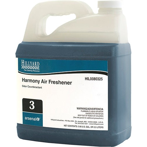Hillyard, Arsenal One, Harmony Air Freshener #3, Dilution Control, HIL0080325, Four 2.5 liter bottles per case, sold as One 2.5
