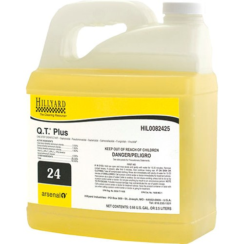Hillyard, Arsenal One, Q.T. Plus #24, Dilution Control, HIL0082425, sold as one 2.5 liter bottle, Four 2.5 liter bottles per cas
