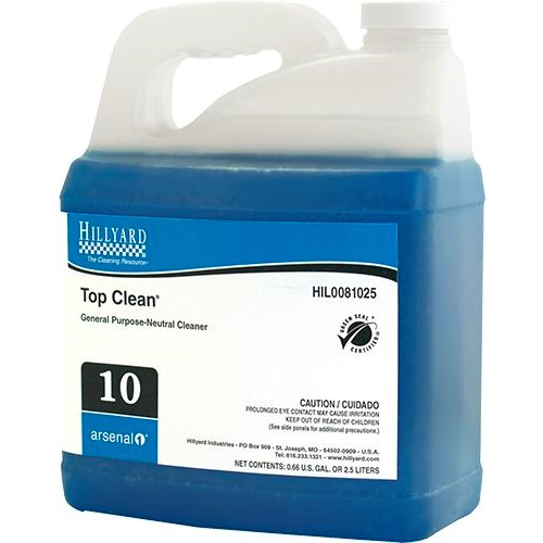 Hillyard, Arsenal One, Top Clean #10, Dilution Control, HIL0081025, Four 2.5 liter bottles per case, sold as One 2.5 liter bottl