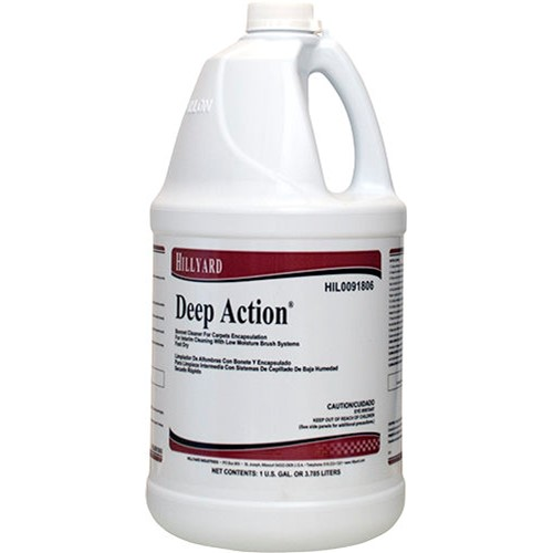 Hillyard, Deep Action Carpet Cleaner, concentrated gallon, HIL0091806, sold as 1 gallon, 4 gallons per case