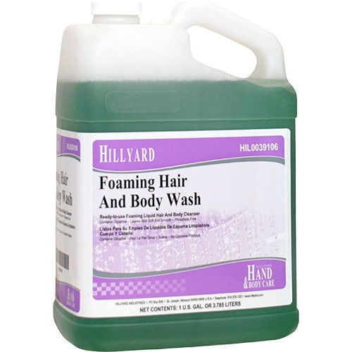 Hillyard, Foaming Hair and Body Wash, HIL0039106. sold as 1 gallon, 4 gallons to case