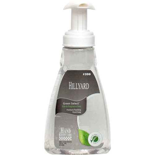 Hillyard, Green Select Foaming Hand Soap, 14 oz. Pump Bottle, HIL0039082, 6 bottles per case, sold as 1 bottle