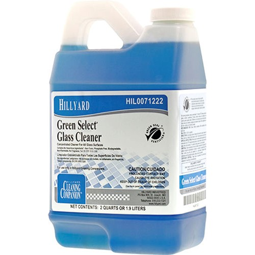 Hillyard, Green Select Glass Cleaner, C2, C3,  HIL0071222, sold as 1 half gallon, 6 half gallons per case